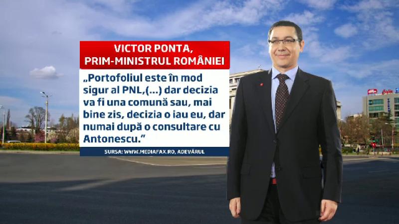 Cearta Ponta-Antonescu, la sedinta USL. Cei doi nu se inteleg cine sa fie noul ministru al Justitiei