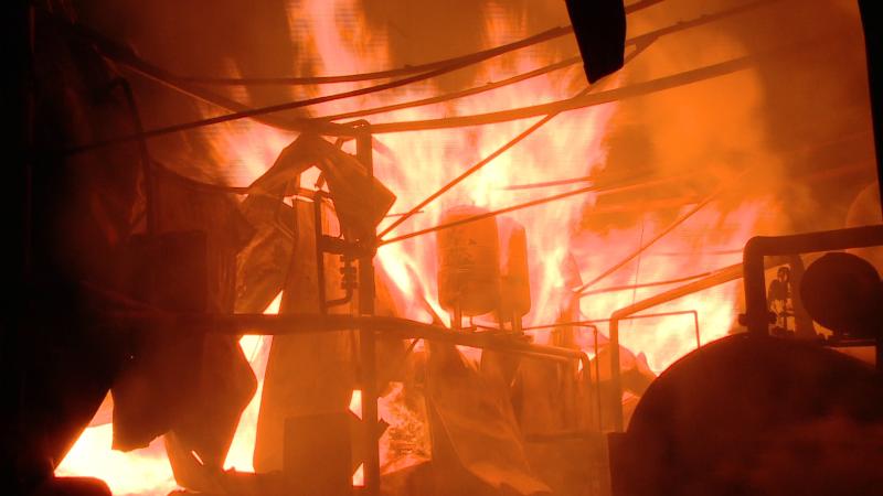 incendiu, flacari, timisoara