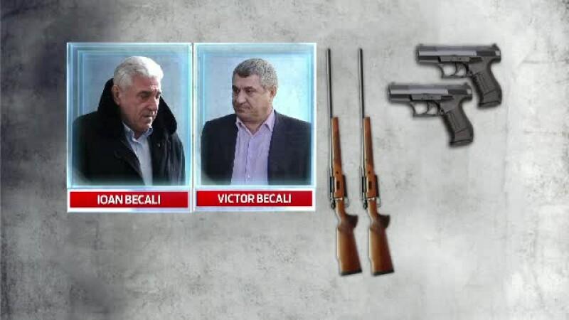 Arsenalul pe care fratii Becali l-au pierdut dupa condamnare. Politistii au facut perchezitii si in casa lui Gica Popescu