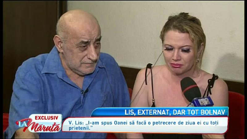 Oana Lis, la spital cu Viorel Lis