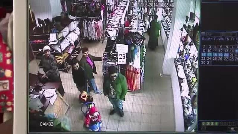furt din magazin de haine