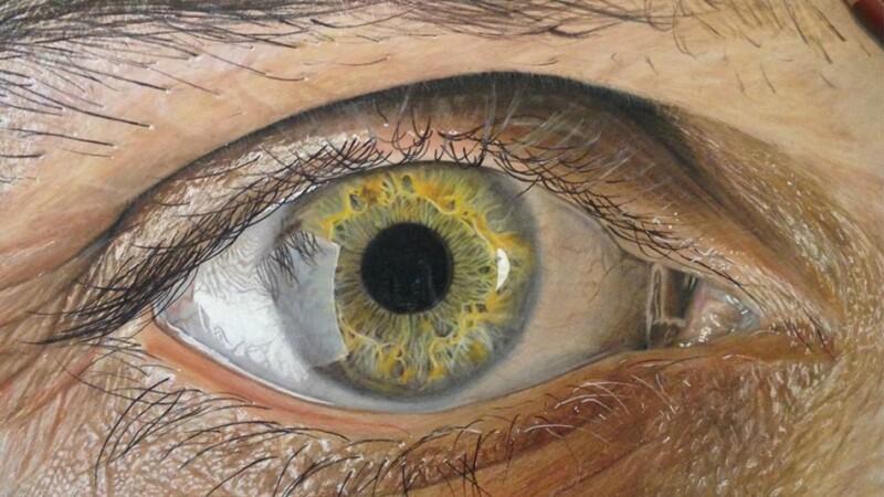 Desenele care pot pacali pe oricine. Un artist grafic realizeaza lucrari complexe ale ochiului uman