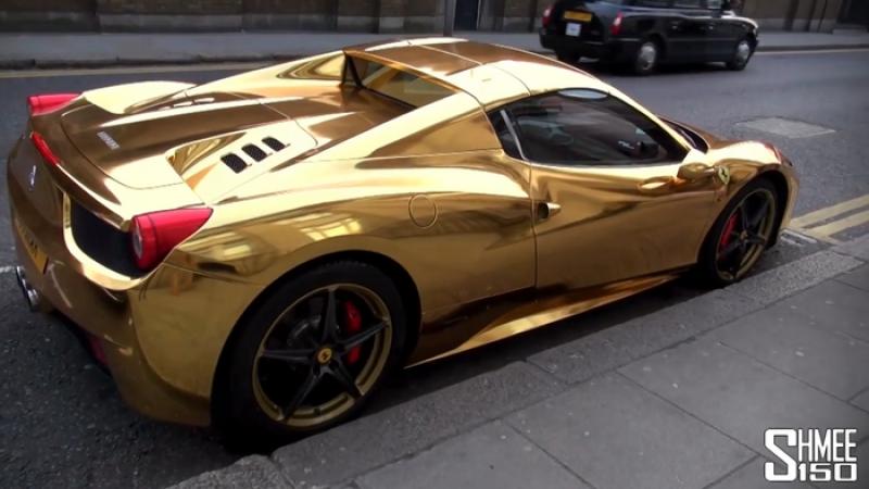 Nu s-a multumit cu un Ferrari Spider. Un campion mondial la kickboxing si-a aurit bolidul. VIDEO