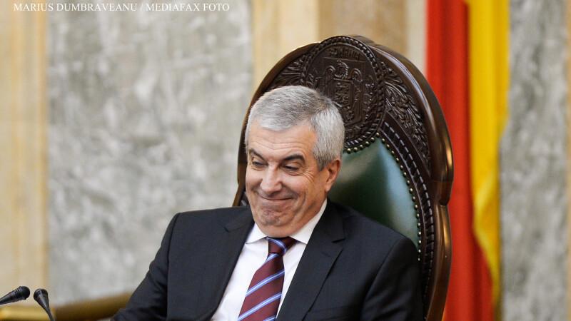Calin Popescu Tariceanu la votul pentru Sova