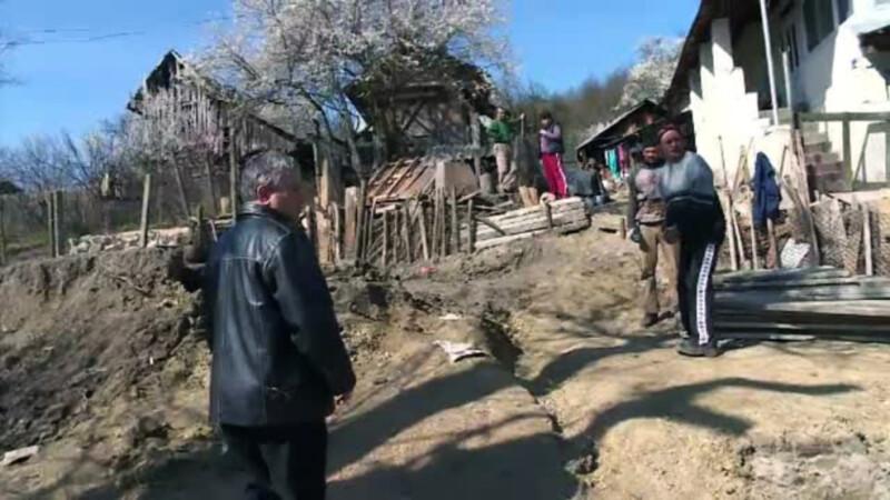 comuna Logresti, alunecare de teren