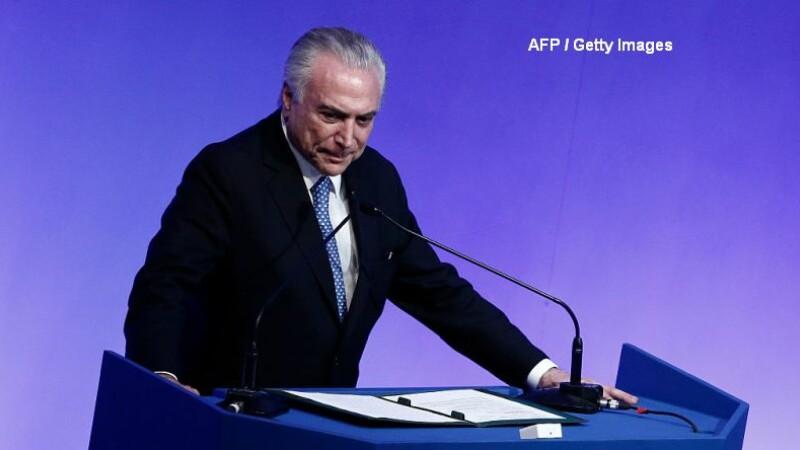 Presedintele Braziliei, inregistrat in timp ce aproba o mita pentru a cumpara tacerea fostului sef al deputatilor