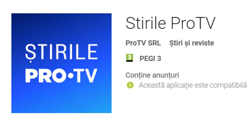 aplicatia Stirile ProTV