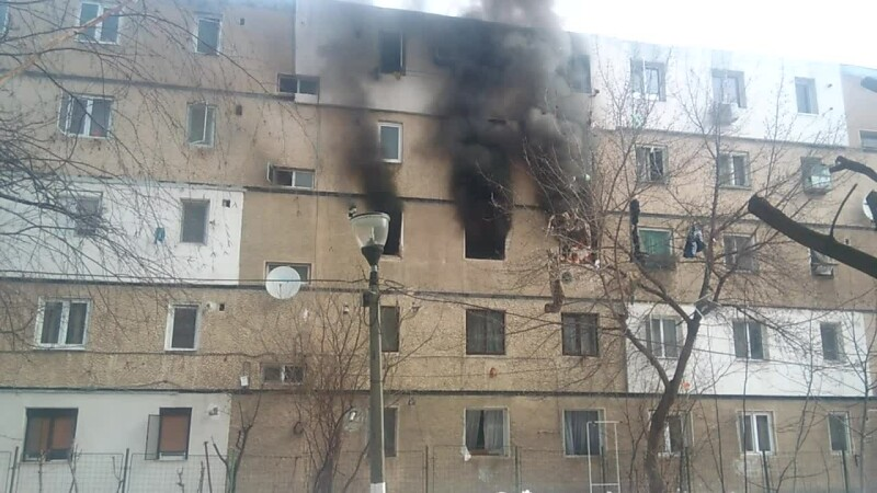 Explozie într-un bloc din Buzău