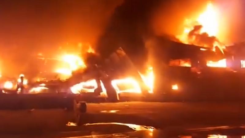 incendiu Galați