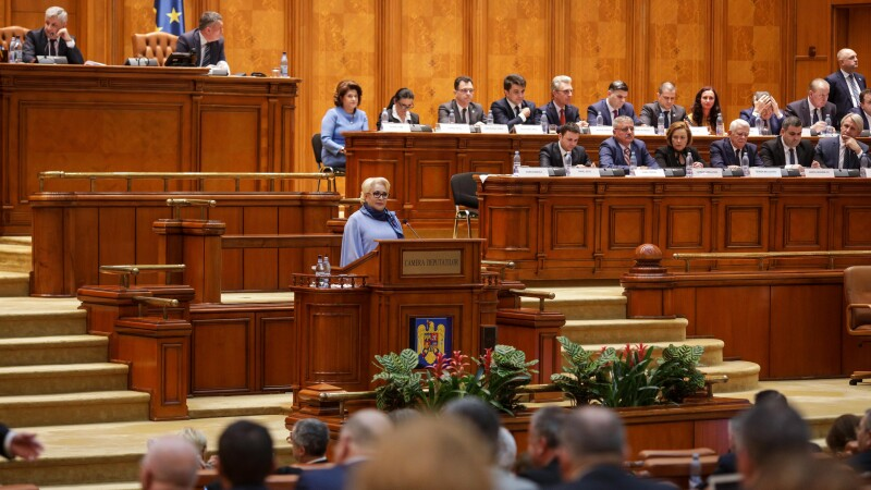 Viorica Dancila in Parlament