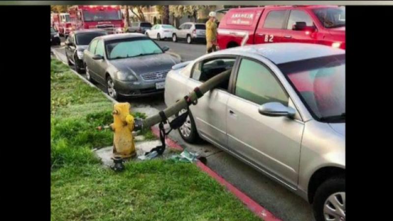 pompieri, masina devastata