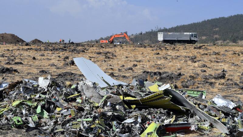 resturile prabusirii avionului Ethiopian Airlines
