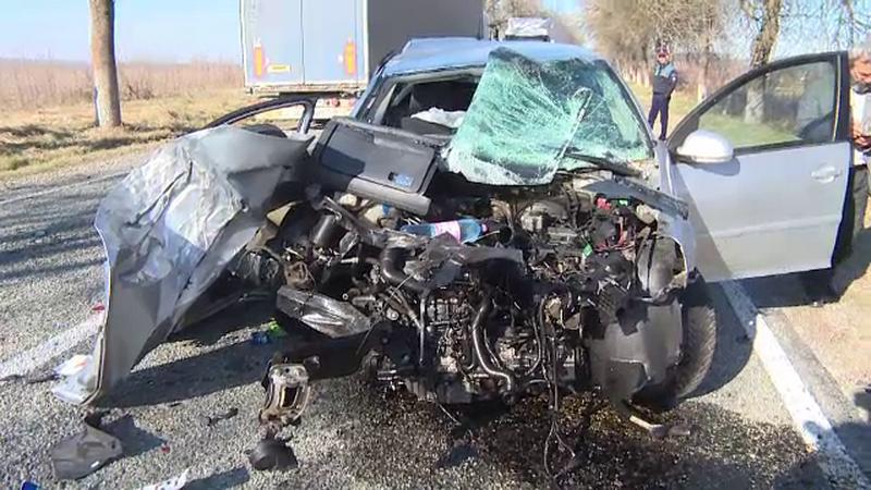 Accident grav între Horezu şi Târgu Jiu