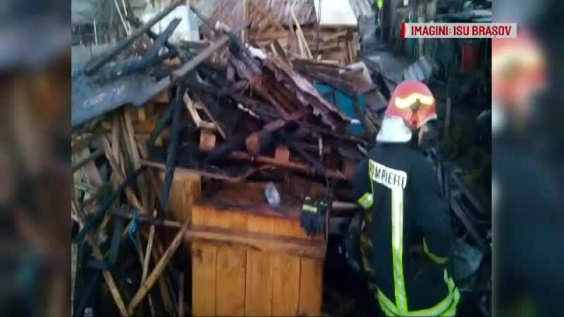 Peste 100 de animale au murit într-un incendiu izbucnit în Prejmer