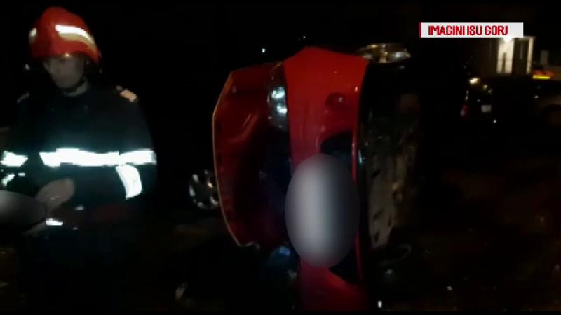 Un taximetrist şi clientul său au ajuns la spital, după un accident produs în Motru
