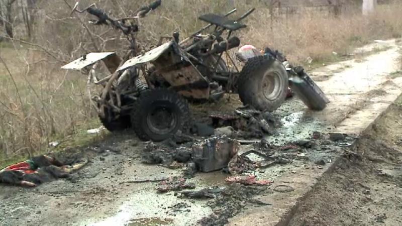Şoferul unui ATV s-a ales cu arsuri grave după ce vehiculul pe care îl conducea a luat foc în mers