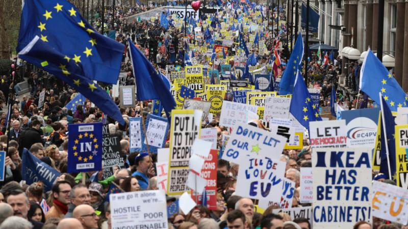 Protest de amploare la Londra. Oamenii cer un nou referendum pentru Brexit. LIVE - 8