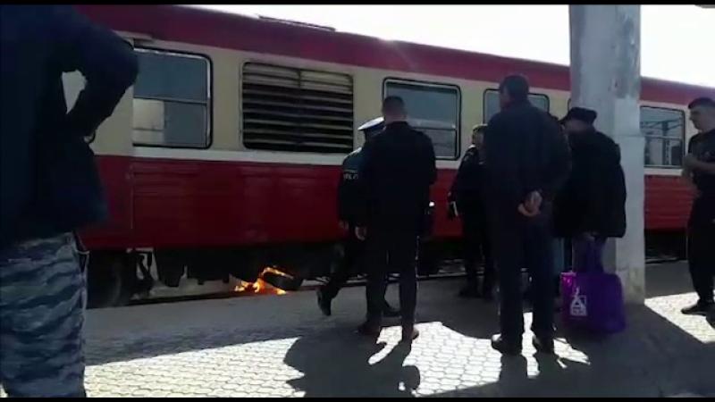 Locomotiva unui tren a deraiat în Brașov. Măsurile luate de CFR