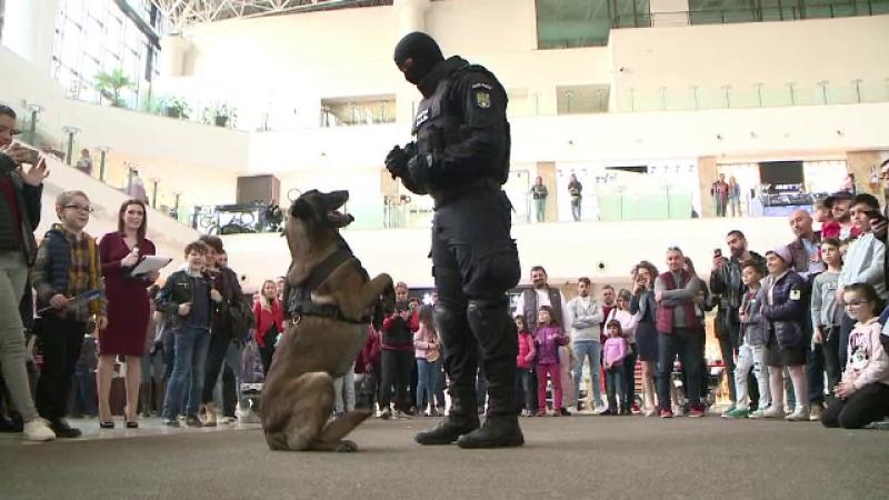 Cum au reacționat copiii la vederea unui câine polițist: