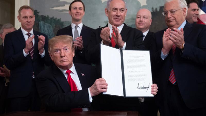 Donald Trump a recunoscut suveranitatea Israelului asupra Platoului Golan. Anunțul Siriei