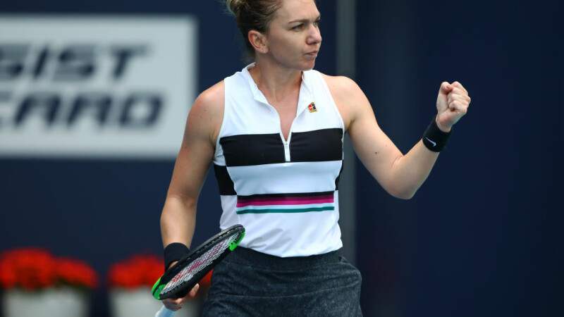 Simona Halep - Qiang Wang. Românca s-a calificat în semifinale la Miami