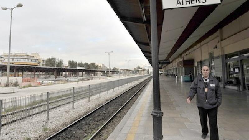 Greva feroviarilor in Grecia