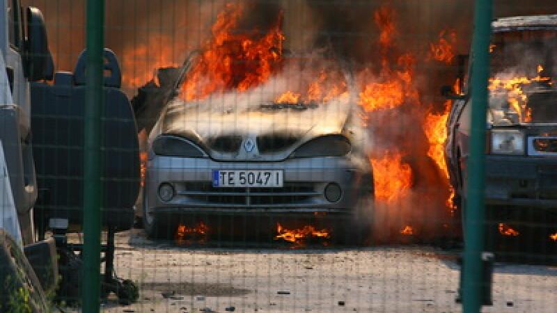 Incendiu service auto Buzau