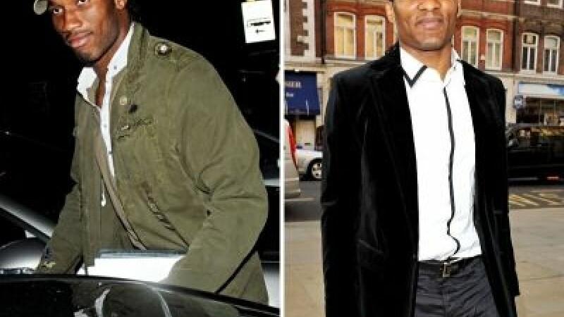 Didier Drogba si Florent Malouda