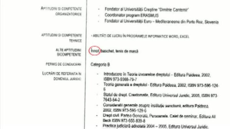 CV-ul noului ministru al Educatiei, Corina Dumitrescu, contine greseli gramaticale
