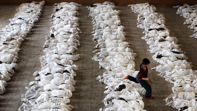 copil alearga peste cadavre, Irak