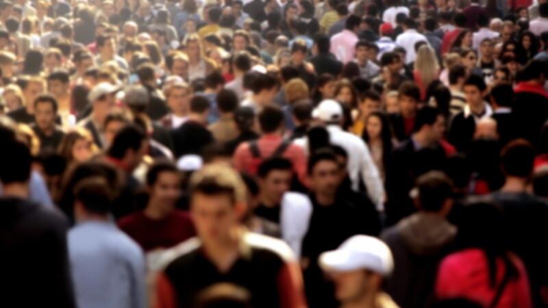 oameni, aglomeratie