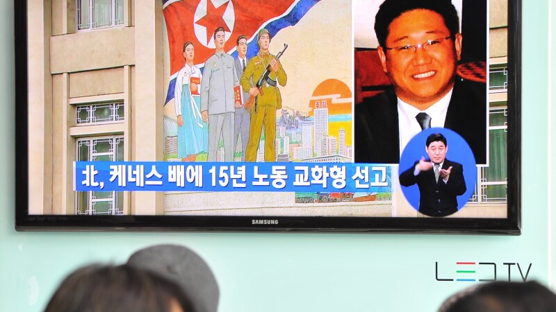 Cazul lui Kenneth Bae, prezentat la televiziunile din Coreea de Sud