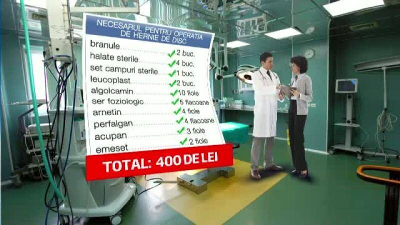 Lista de cumparaturi a bolnavului, inainte de operatie. Recuperarea sumelor e o lupta cu birocratia