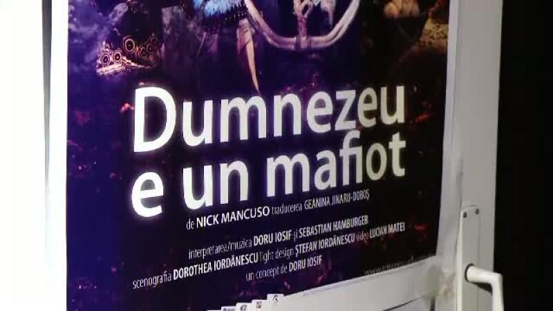 Poster piesa de teatru Dumnezeu e un mafiot