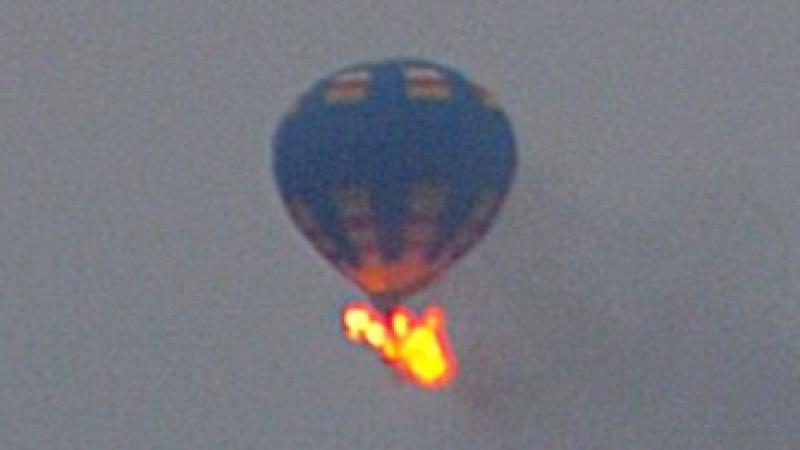 Balon in flacari