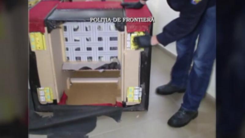 Tigari de contrabanda, ascunse in fotolii. Vamesii din Sighetu Marmatiei au confiscat produse in valoare de 7.000 de lei