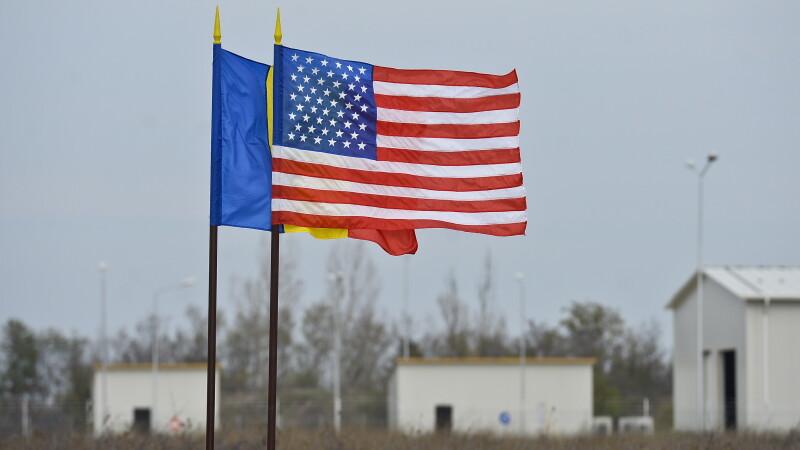 Drapelele Romaniei si SUA