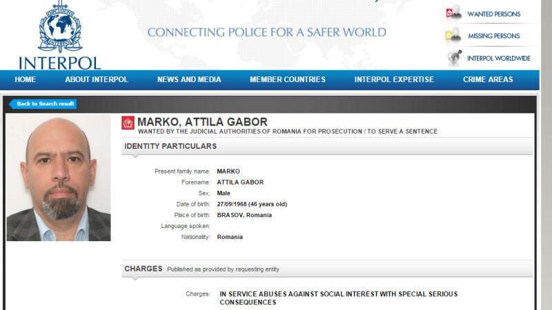 Marko Attila urmarit prin Interpol
