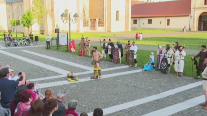 reconstituire targ de sclavi in Alba Iulia