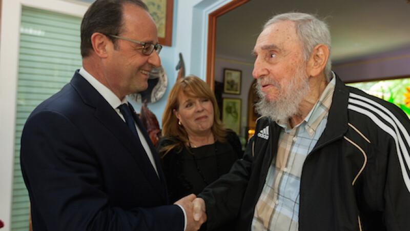 Francois Hollande, Fidel Castro - CUBADEBATE.CU