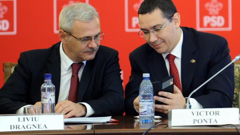 Liviu Dragnea si Victor Ponta la PSD FOTO AGERPRES
