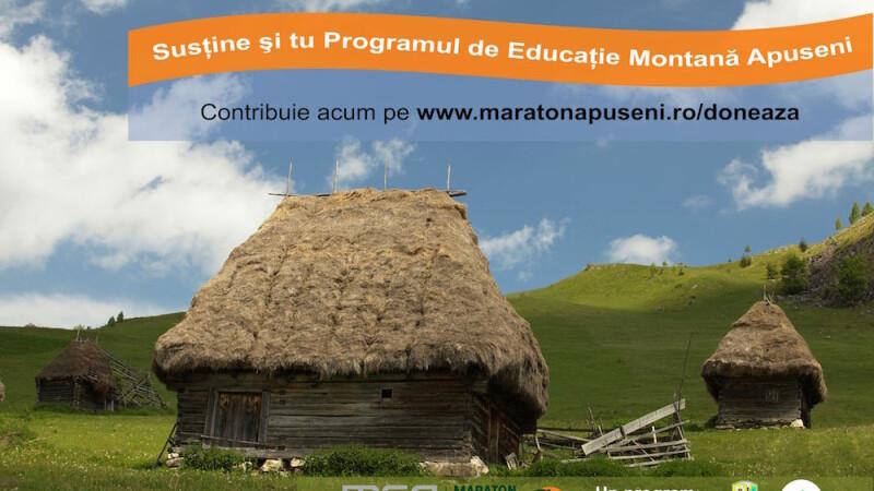 Doneaza pentru programul de educatie montana din zonele rurale din Apuseni! Participa la Maraton!