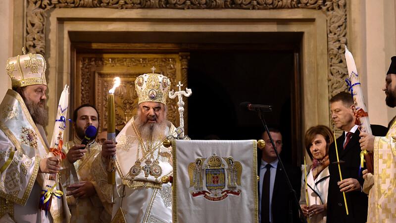 Patriarhul Daniel la Slujba de Inviere de la Patriarhie