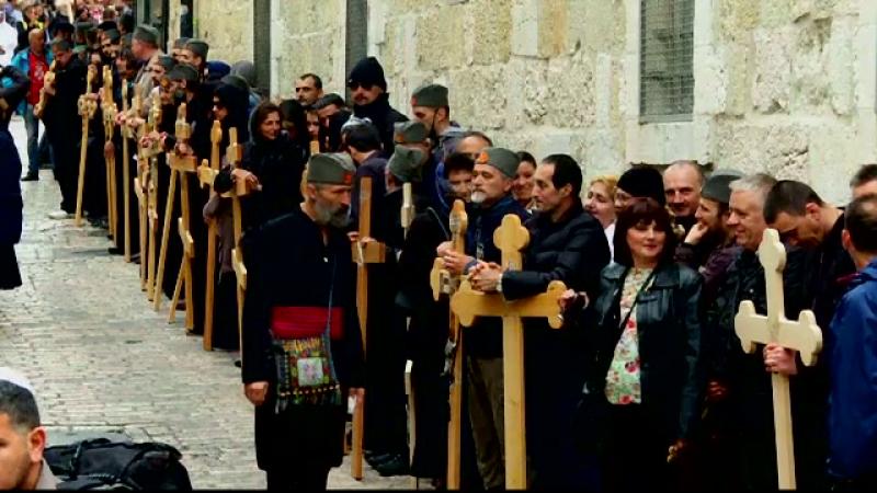 Viata romanilor care locuiesc in Locurile Sfinte, pe taram palestinian.