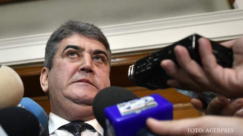 Gabriel Oprea, senator UNPR, sustine o declaratie la finalul audierii sale de catre Comisia juridica a Senatului