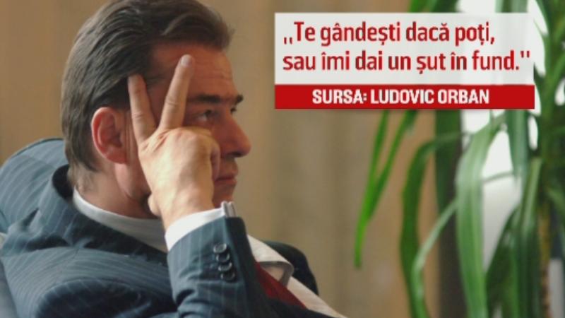 Interceptari in dosarul lui Orban, acuzat ca i-a cerut 50.000 de euro unui om de afaceri.