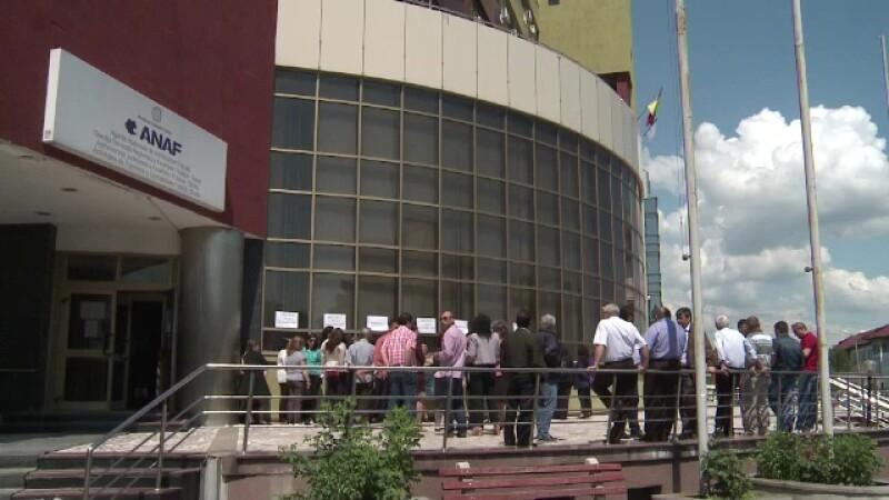 A treia zi de proteste ANAF