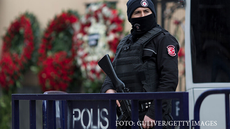 politist turc in Ankara
