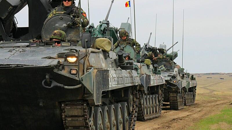 tancuri romanesti pe poligonul de la Smardan