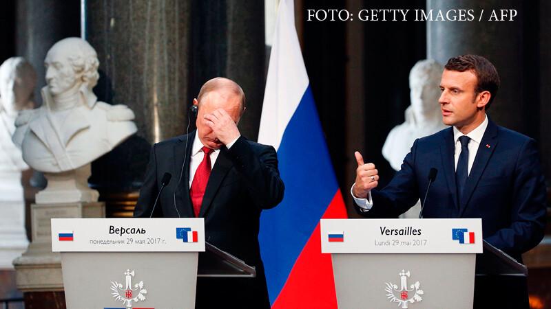 Macron, declaratii indraznete de fata cu Putin. Analistii sustin ca presedintele rus nu i-ar fi acceptat asta lui Hollande